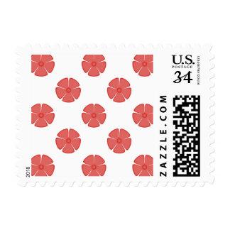 Flower Pattern 2 Cayenne Postage Stamps