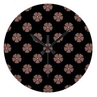 Flower Pattern 2 Cognac Wallclock