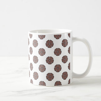 Flower Pattern 2 Cognac Coffee Mug