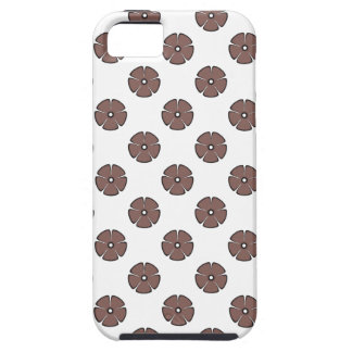 Flower Pattern 2 Cognac iPhone 5/5S Cover