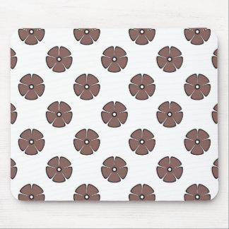 Flower Pattern 2 Cognac Mouse Pad