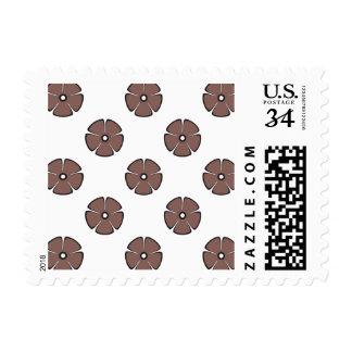 Flower Pattern 2 Cognac Stamps