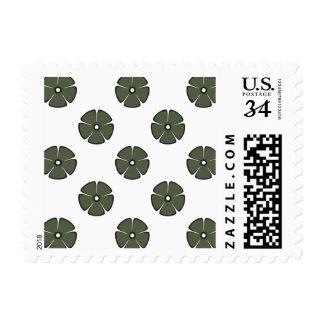 Flower Pattern 2 Cypress Postage Stamp