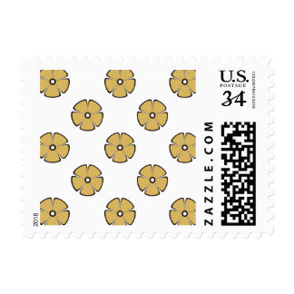 Flower Pattern 2 Misted Yellow Stamp