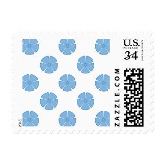 Flower Pattern 2 Placid Blue Stamps