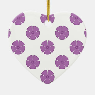 Flower Pattern 2 Radiant Orchid Christmas Tree Ornaments