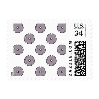 Flower Pattern 2 Sea Fog Postage Stamps