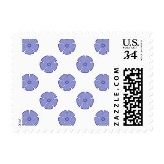 Flower Pattern 2 Violet Tulip Postage Stamp