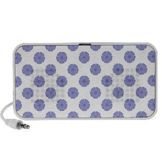 Flower Pattern 2 Violet Tulip Laptop Speakers