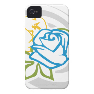 flower pattern 3 - blue rose Case-Mate iPhone 4 cases