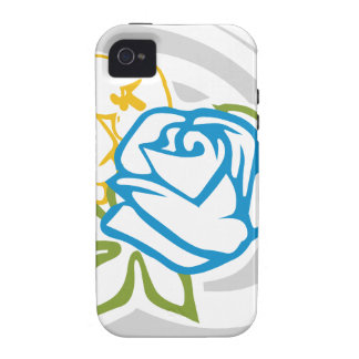 flower pattern 3 - blue rose iPhone 4/4S cases