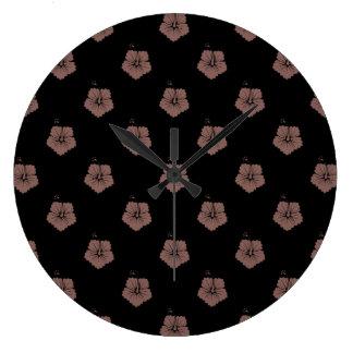 Flower Pattern 3 Cognac Wallclocks