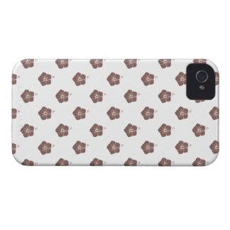 Flower Pattern 3 Cognac iPhone 4 Case
