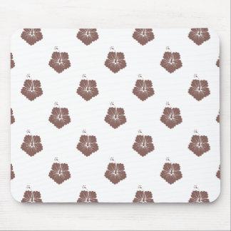 Flower Pattern 3 Cognac Mouse Pad