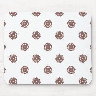 Flower Pattern 4 Cognac Mouse Pad