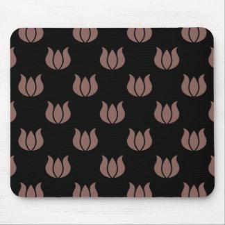 Flower Pattern 5 Cognac Mouse Pad