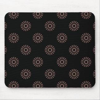 Flower Pattern 6 Cognac Mouse Pad