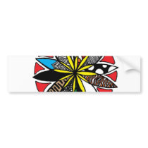 Flower Pattern Bumper Sticker