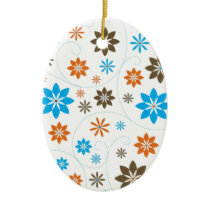Flower Pattern Ceramic Ornament