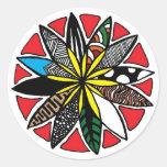 Flower Pattern Classic Round Sticker