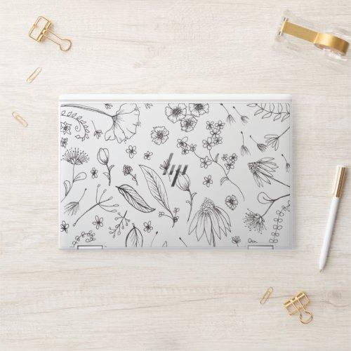 Flower Pattern Design HP Laptop Skin