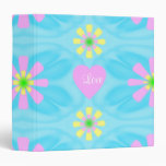 Flower Pattern Designed with Love 3 Ring Binder