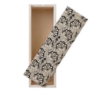 Flower Pattern Doodle Wooden Keepsake Box