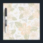 "Flower Pattern Dry-Erase Board<br><div class=""desc"">Dry Erase Board has a pretty flower design in shades of light orange,  olive green,  grey,  and eggshell.</div>"