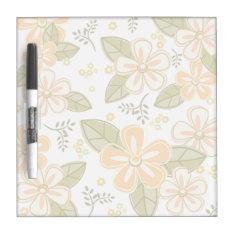 Flower Pattern Dry-erase Board at Zazzle