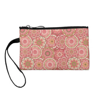 Flower Pattern Four Coin Wallets