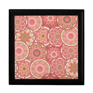 Flower Pattern Four Keepsake Box