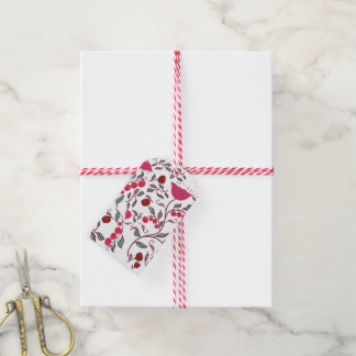 Flower pattern gift tags