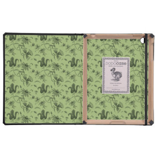 flower pattern green iPad cover