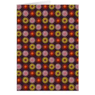 Flower Pattern in Maroon Tones and Background Card