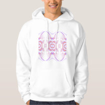 Flower Pattern in Orange and Purple. Hoodie
