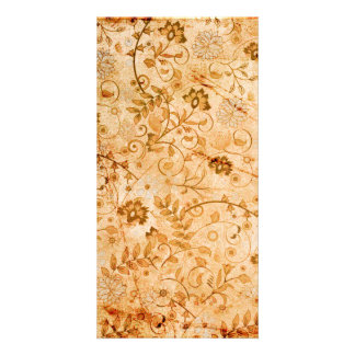 Flower pattern in soft colors photo card