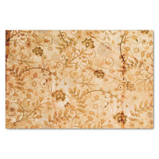 Flower pattern in soft colors tissue paper
