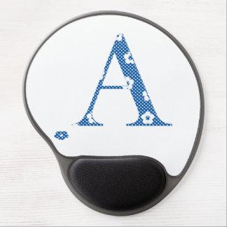 Flower Pattern Letter A(blue) Gel Mouse Pad