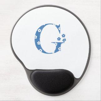 Flower Pattern Letter G(blue) Gel Mouse Pad