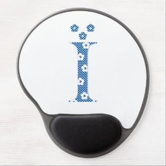 Flower Pattern Letter I (blue) Gel Mouse Pad
