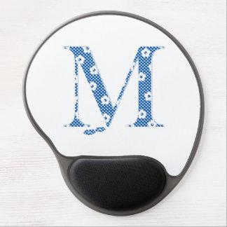 Flower Pattern Letter M(blue) Gel Mouse Pad