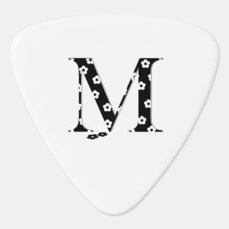 Flower Pattern Letter M Guitar Pick