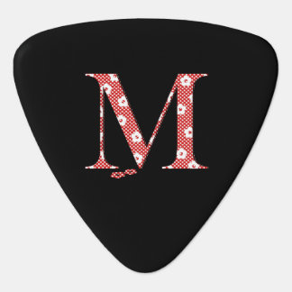 Flower Pattern Letter M(red) Guitar Pick