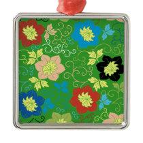 flower pattern metal ornament