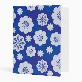flower pattern mini binder