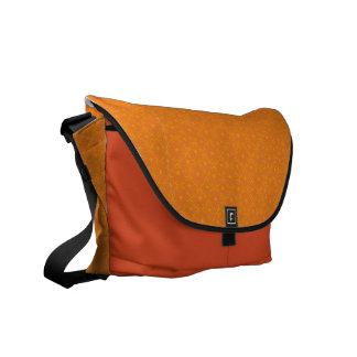 flower pattern (orange) courier bag