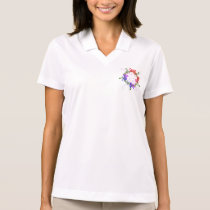 Flower Pattern Peace Love Party Destiny Digital Polo Shirt