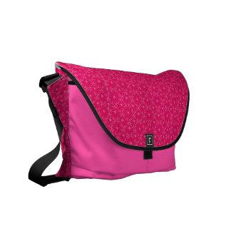 flower pattern (pink) messenger bag