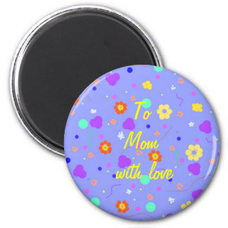 Flower Pattern products, fully customisable. 2 Inch Round Magnet