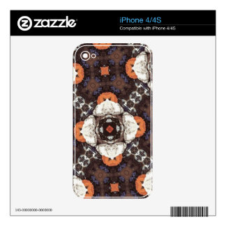Flower Pattern Decals For iPhone 4